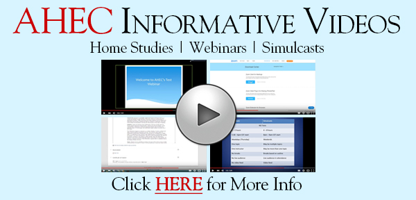 Advanced Health Education Center Informative Videos: Home Studies, Webinars, and Simulcasts