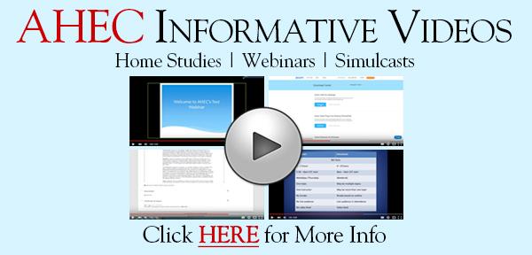 Advanced Health Education Center Informative Videos: Home Studies, Webinars, and Simulcasts